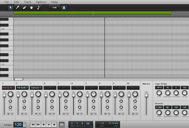 Aplicación para crear música AudioSauna