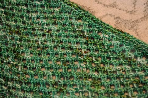 Open Mesh Knitting Stitches : Art Threads: Irish Mesh Knit Cowl