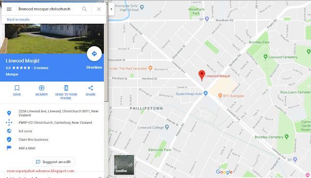 Foto Lokasi Linwood Mosque, Chrischurc New Zealand google map