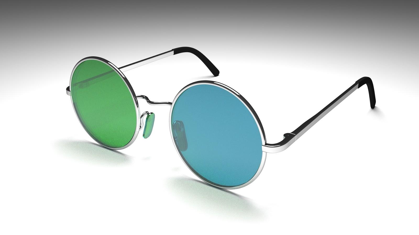 Free 3D Retro Sunglasses .blend file