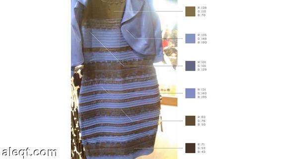 اغرب فستنان , فستان يتغير لونه من شخص اللي اخر , فستان غريب