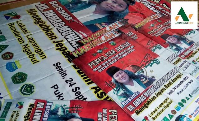 cetak banner pengajian di jepara