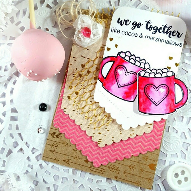 Sunny Studio Stamps: Mug Hugs Love Themed Card by Terri Burson