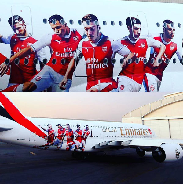 Photos: Arsenal FC acquires 195billion naira private jet for team