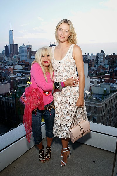 Designer Betsey Johnson and Maria Sharapova