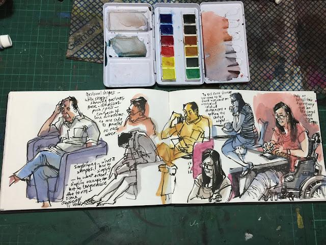 Pebeo 12 Hues Half Pan watercolor box set