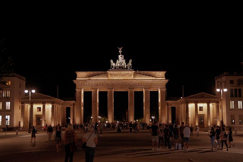 Berlin Photo Diary August 2017: Brandenburger Tor bei Nacht