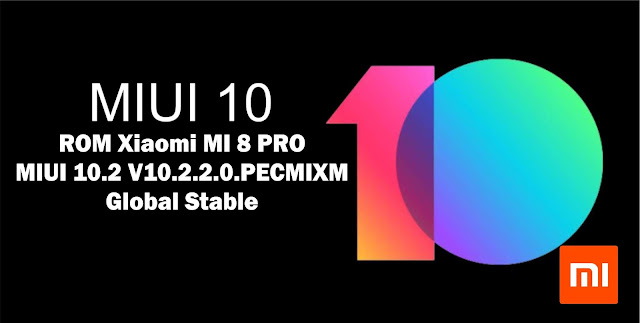 Download ROM Xiaomi MI 8 LITE MIUI V10.2.2.0.PDTMIXM Global Stable