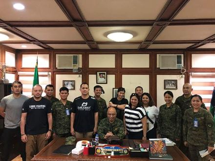 Before her Training, Angel Locsin Was First Given The Chance To Meet The Head Of Filipino Intelligence