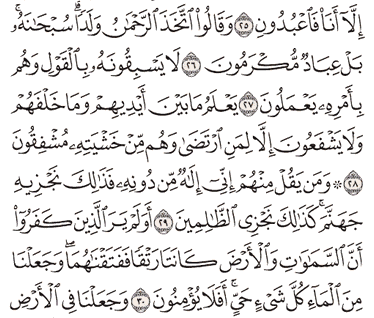 Tafsir Surat Al-Anbiya' Ayat 26, 27, 28, 29, 30