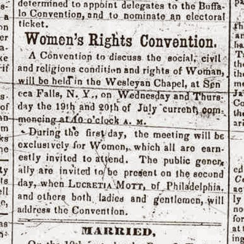 The Monstrous Regiment Of Women Seneca Falls Convention Day One