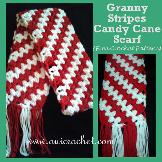 Crochet, Free Crochet Pattern, Crochet Scarf, granny stripes, Granny Stripes Scarf, Candy Cane Scarf, Christmas, Christmas Scarf, Corner to Corner Scarf, Diagonal Striped Scarf,Granny Stripes Candy Cane Scarf,
