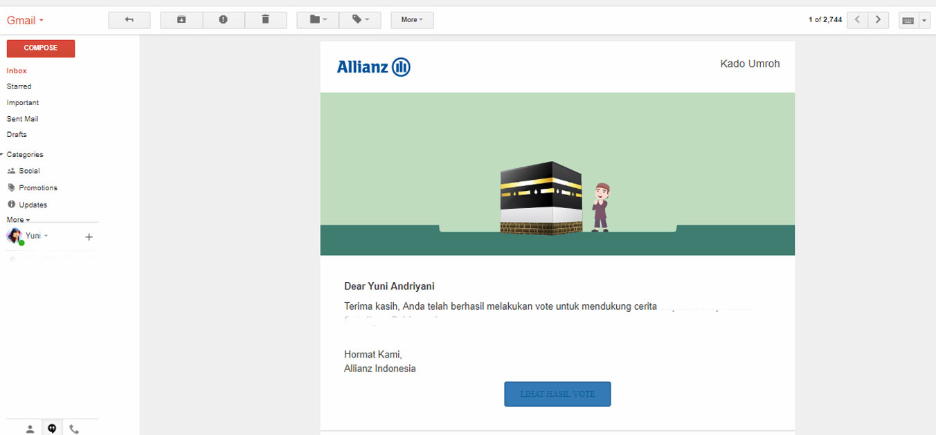 Email Konfirmasi Vote KadoUmroh Allianz