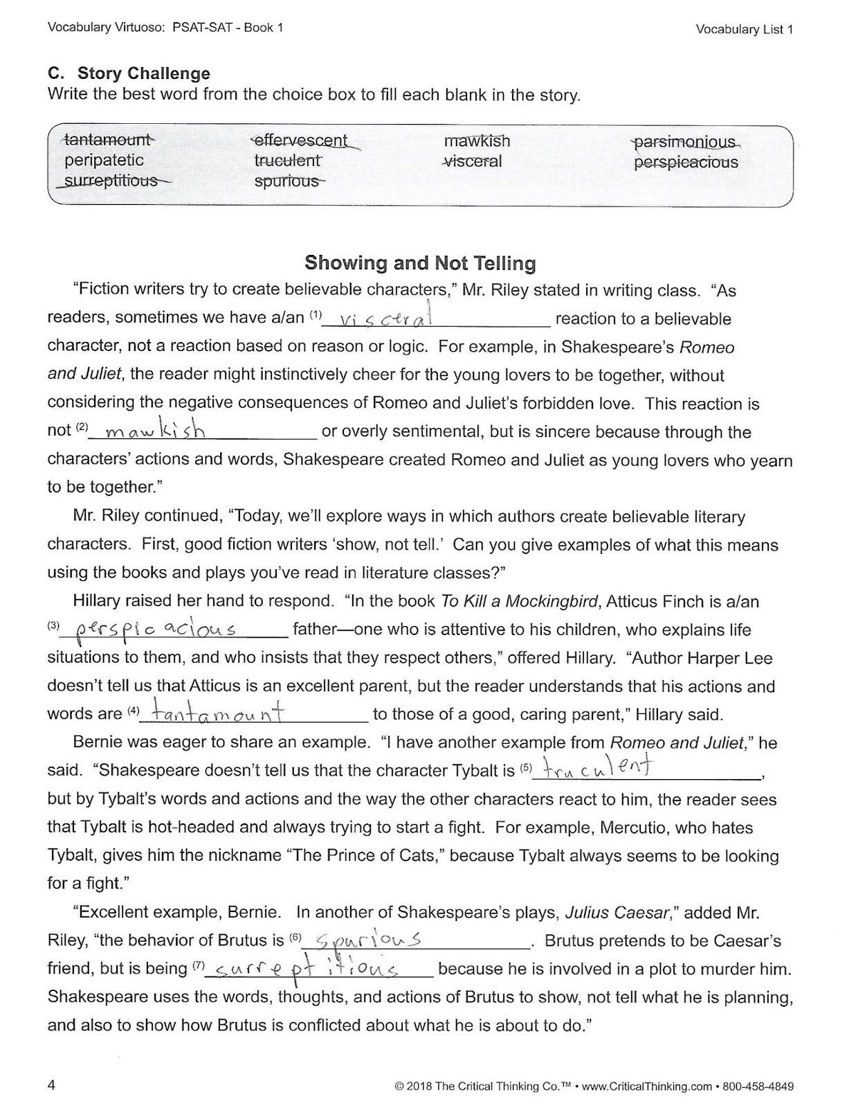My Happy Homeschool: Vocabulary Virtuoso: PSAT-SAT Book 1