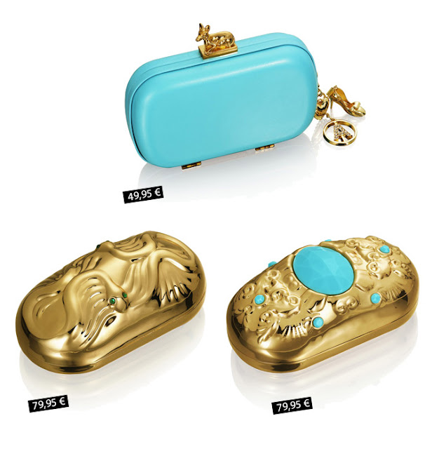 Anna dello Russo for H&M clutches with pices