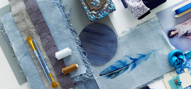 Blue mood board by Karin Meyn of Piet Boon Studio