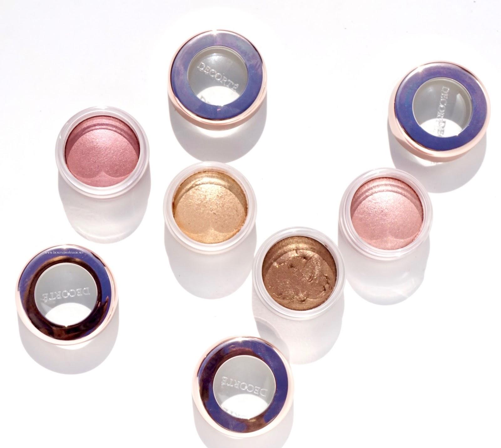 decorte makeup swatches