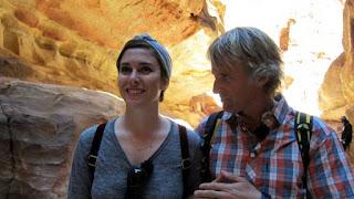 Jesús y Blanca en Petra, Jordania