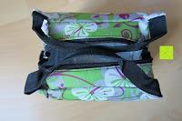 Griffe: Aosbos Wasserdichte Lunch Tasche Isolierte Thermo Picknicktasche für Lebensmitteltransport(Grün Blumen)