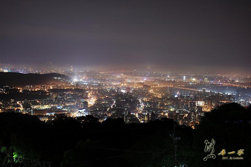 陽明山夜景 文化大學後山夜景
