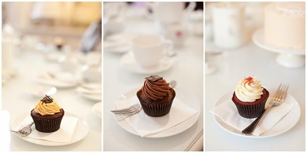 A trio of cupcakes