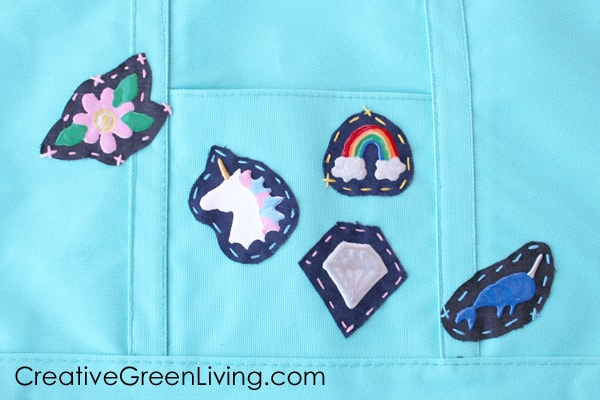 How to use embroidery floss to attach patches