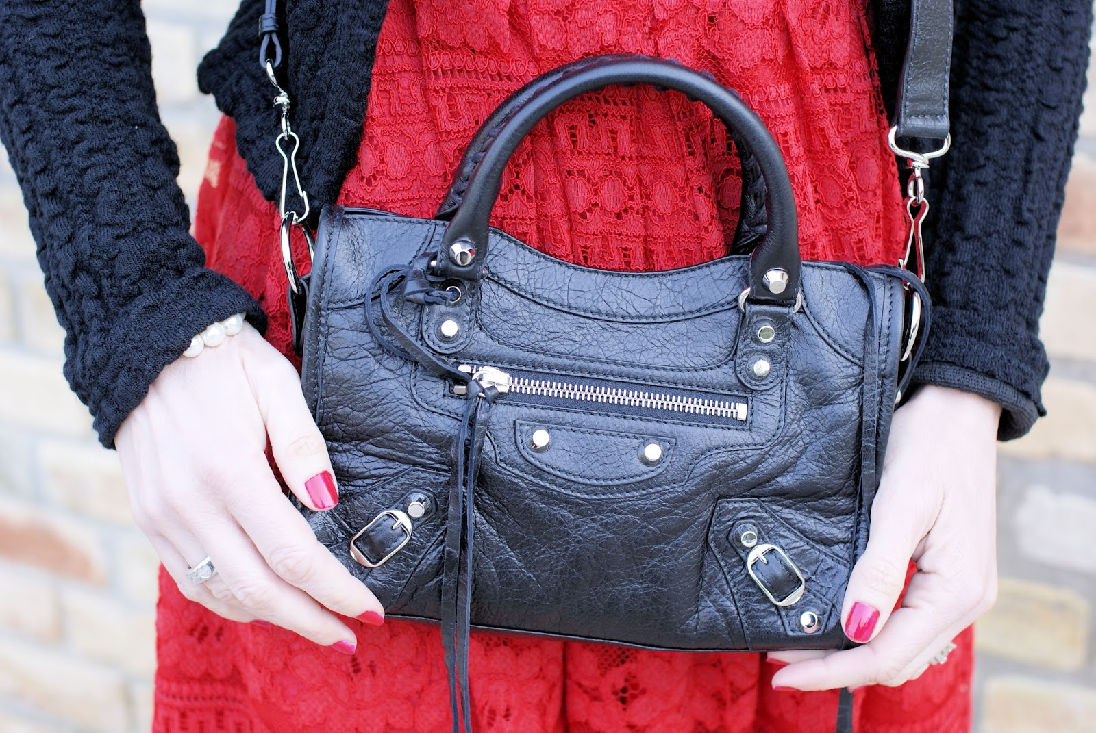 Balenciaga Mini City in black on Fashion and Cookies fashion blog