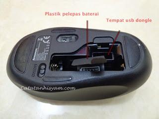 Mouse Wireless Bagus dan Awet Lenovo Bagian Bawah