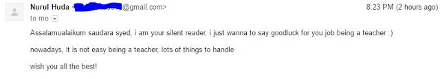 Blog Seorang Syed Ada Silent Reader
