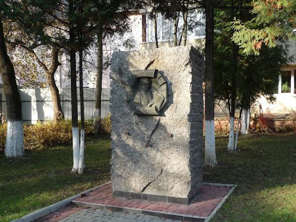 Свалява. Памятник Ю. И. Винелину – украинскому и российскому историку, славяноведу