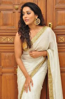 Actress Rashmi Gautham Pictures in White Saree at tur Talkies Audio Launch  0040.jpg