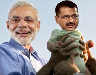 Narendra Modi Hold Arvind kejriwal