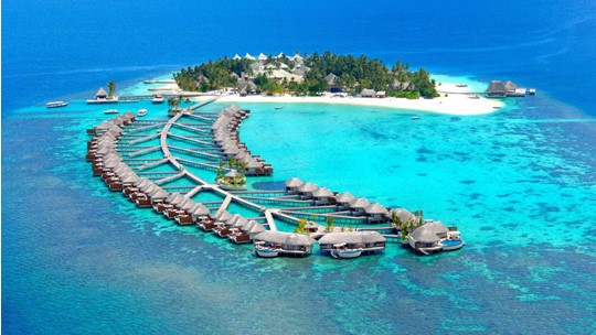 The Beautiful Nature in Maldives Island