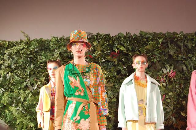 Kelly Fountain at London Fashion Week for Fashion Hong Kong Fashion Show and Presentation wearing Dolce and Gabbana
