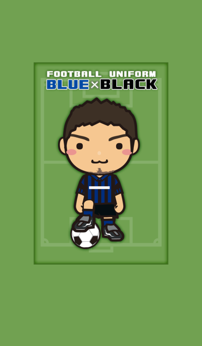 FOOTBALL UNIFORM [BLUE x BLACK]