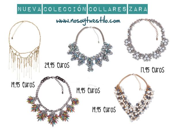 Nueva colección completa de collares de Zara NO SOY TU ESTILO