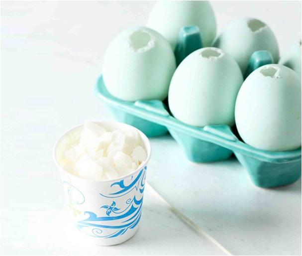 evde yumurtadan mum yapımı