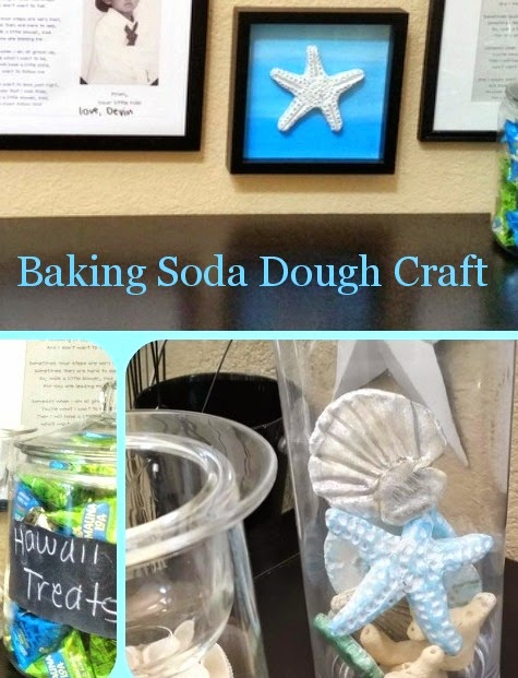 coastal sea life made with baking soda dough