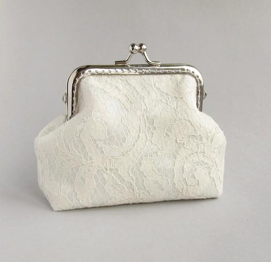 ivory lace purse, кошелек, шитье