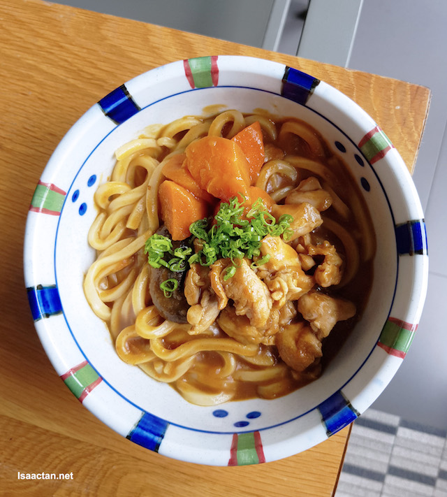 Curry Udon, very flavourful