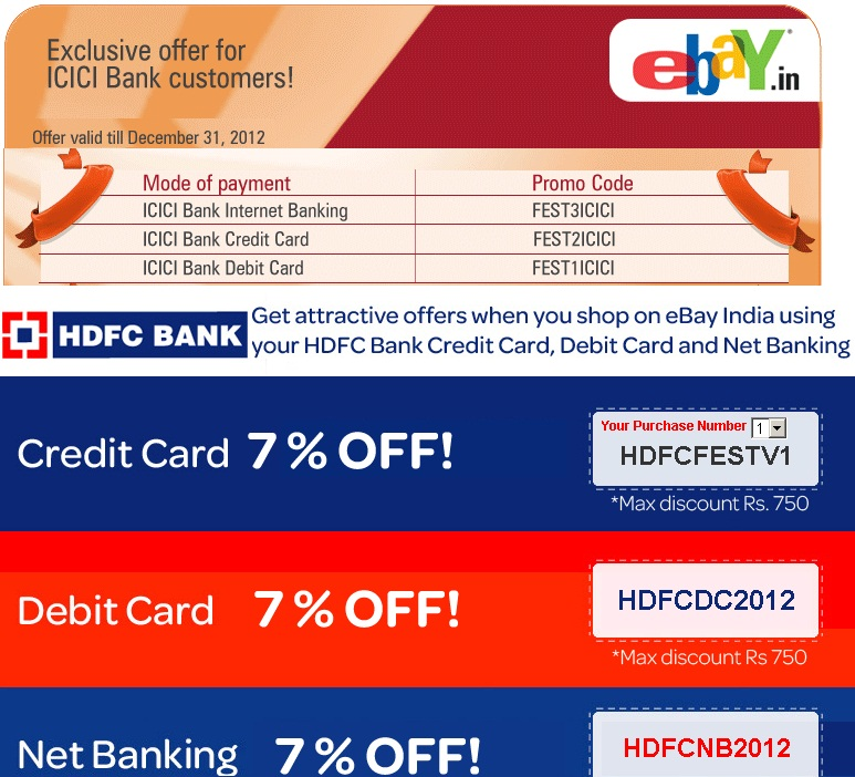 Hdfc netbanking coupon code for ebay : Ebay deals ph