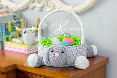 Crochet bunny Easter basket