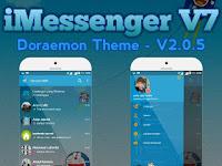 BBM MOD iMessenger Doraemon Theme Base BBM V3.0.1.25