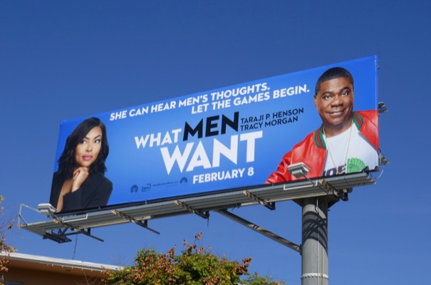 What Men Want movie billboard