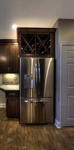 Amazing Grays Diy Over Fridge Wine Rack