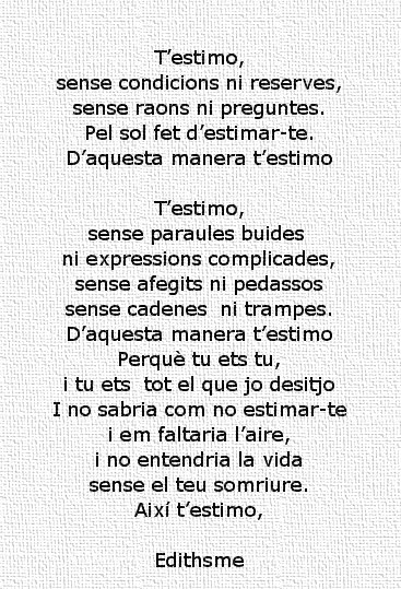 Edithsme 70 Frases D Amor I 5 Poemes Per Dir T Estimo
