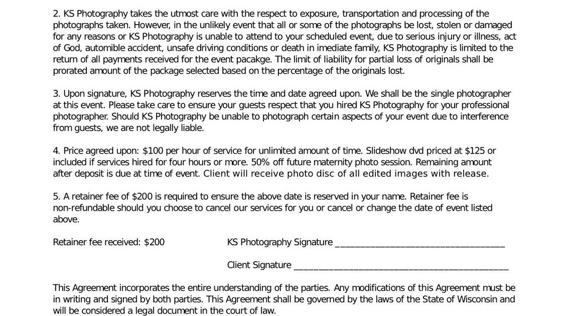 KS Photography Blog KS Photography Wedding Contract