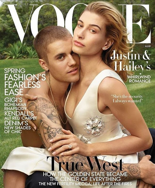 Justin Beiber & Hailey Baldwin Are Couple Goals On The Cover Of Vogue Magazine.