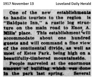 1917 November Baldpate Inn story  Loveland Daily Herald