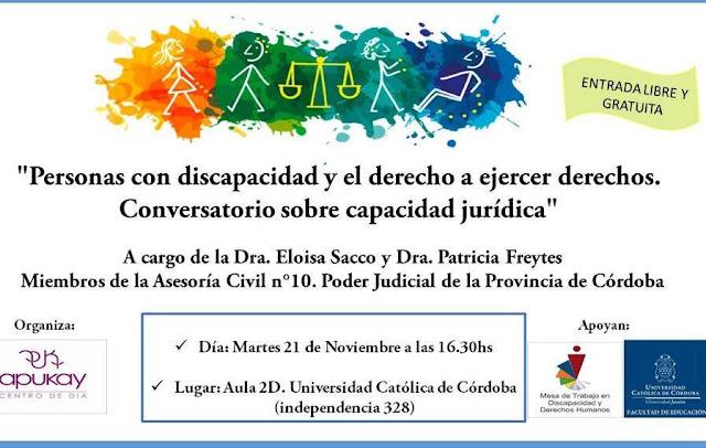 """Charla: """"Personas con Discapacidad y el Derecho a ejercer Derechos"""""""